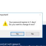 Notificación de cambio de contraseña cuando la contraseña de un usuario de AD está a punto de caducar