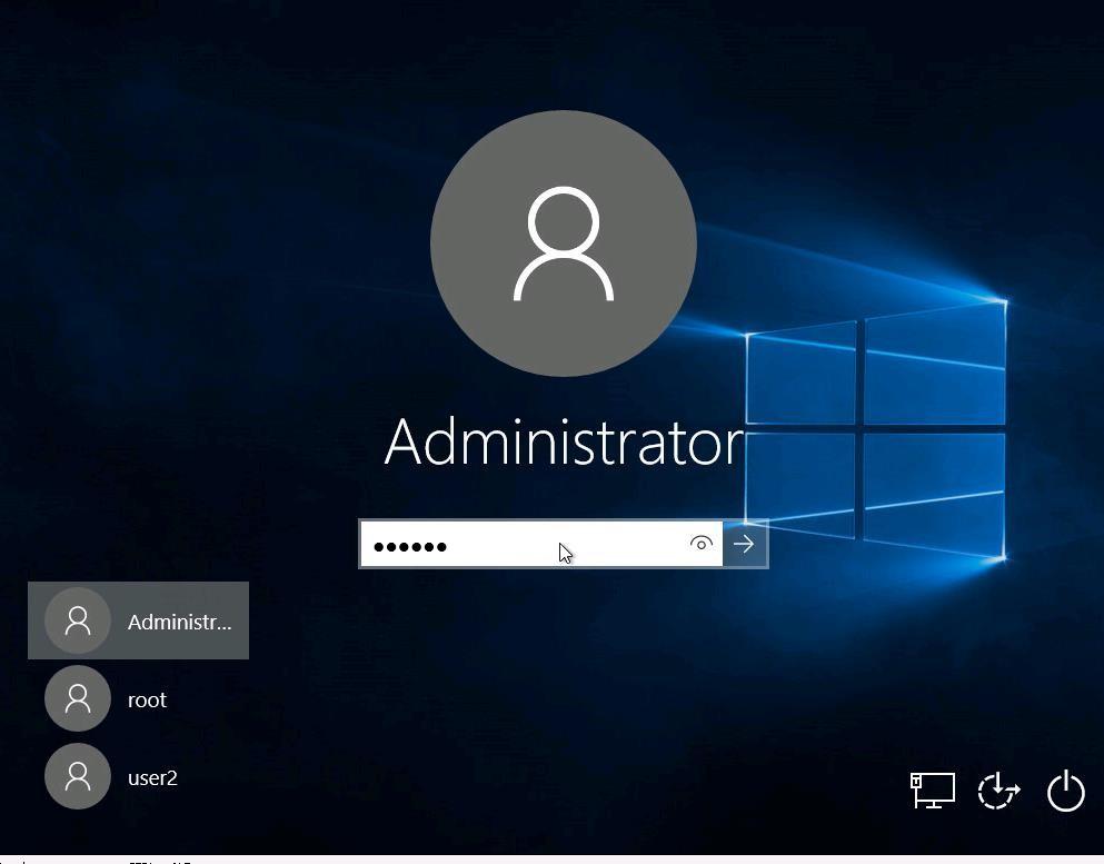 mostrar a todos los usuarios en la pantalla de inicio de sesión de Windows 10
