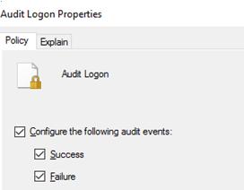habilitar la política de auditoría de inicio de sesión de usuario en el directorio activo