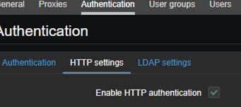 Habilite la autenticación HTTP en Zabbix