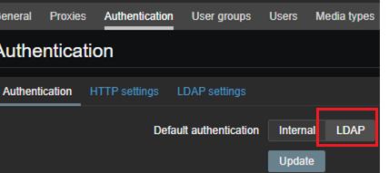 zabbix usa autenticación LDAP