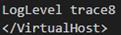 Apache LogLevel trace8