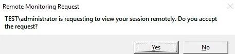 rds shadow Solicitud de monitoreo remoto en una sesión RDP de usuario