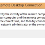 El escritorio remoto no puede verificar la identidad de la computadora remota debido a la diferencia de fecha y hora