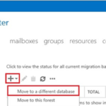 Mover los buzones de correo de Exchange a una base de datos diferente